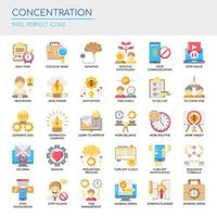 Set of Color Flat Concentration Icons