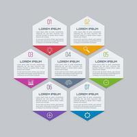 Hexagonal infographic template
