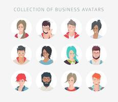 Coleção de avatares para redes sociais