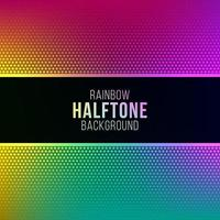 Rainbow gradient background with halftone pattern
