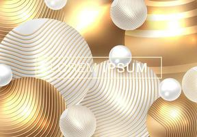 Golden shiny perl background  vector
