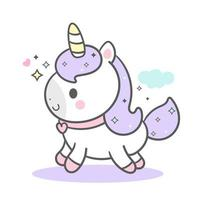 Purple Cute Unicorn vector