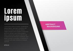 Abstract template black and white gradient vector
