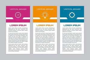 Colorful vertical infographic banner set