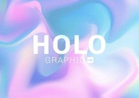 Holographic hipster card in pastel colors