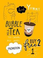 Bubble tea Specialerbjudanden BOGO Design