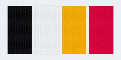 Colorful blank banners with honeycomb textures vector