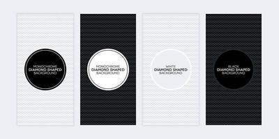 Black and white banners with diamond shaped textures