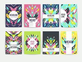 Set di volantini colorati astratti geometrici
