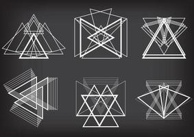 Trianglar kreativa koncept