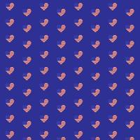 USA heart patterns set vector