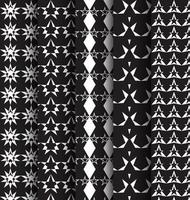 Seamless pattern with stars set