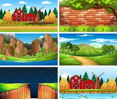 Set of different outsides backgrounds