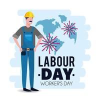 labour day image of mechanic with helmet