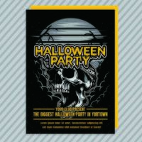 Vintage Halloween Party Invitation Flyer