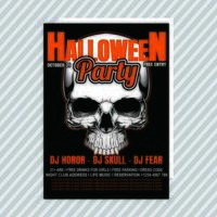 Halloween Cool Party Invitation Flyer