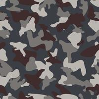 Grey Camouflage seamless color pattern vector