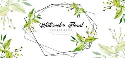 Geometric Watercolor Floral Background
