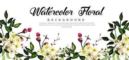 Spring  Watercolor Floral Background