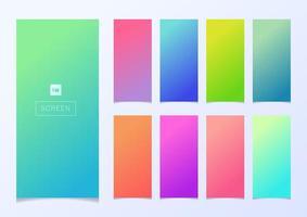 Set of modern smartphone screen gradient backgrounds