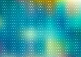 Abstracte blauwe onscherpe achtergrond met polka dots