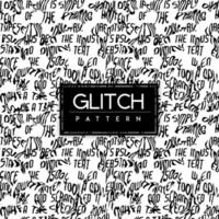 Black and White Glitch Seamless Pattern Background