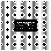 Svartvit geometrisk sömlös bakgrund