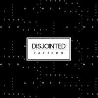 Texto desunido blanco y negro de fondo transparente