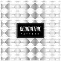 Black and White Geometric Pattern Background vector
