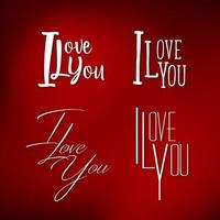 Set of I Love You vector