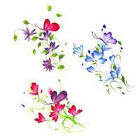 Arranjo Floral em aquarela bonita