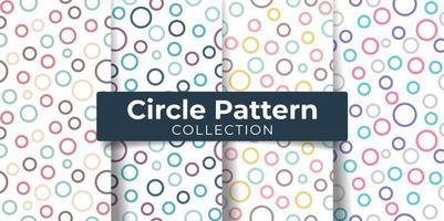 Cercle rond modèle sans couture coloré