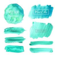 Teal Pastel aquarel Badge Set
