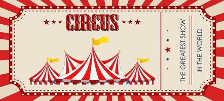 A red circus ticket template