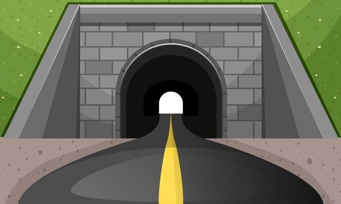 road going through tunnel 669183 vector art at vecteezy  vecteezy