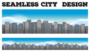 Seamless background of buildings in the city