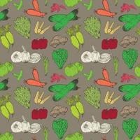 Healthy Vegetables Seamless Pattern Background