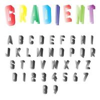 Gradient font template vector