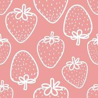 Fresh Strawberry Seamless Background  vector