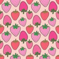 Pink Strawberry Seamless Background