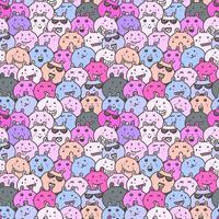 Seamless pattern with lovely bunny background