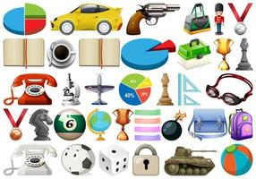 Large set of miscellaneous objects vector