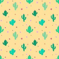 Fiesta Cactus Seamless Pattern mignon