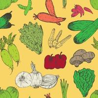 Fresh Vegetables Seamless Background