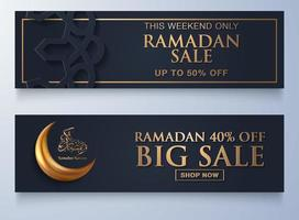 Ramadan sale background with copy space vector