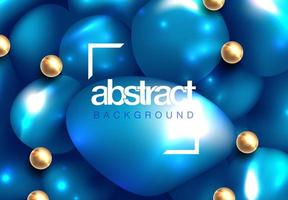 Glossy soft body spheres background vector