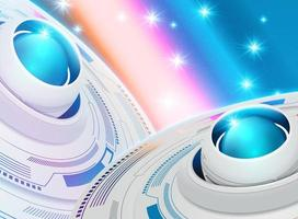 Abstract futuristic wallpaper vector
