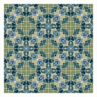 Blue and Green Geometric Seamless Pattern