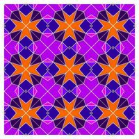 Stained Glass Geometric Seamless Pattern