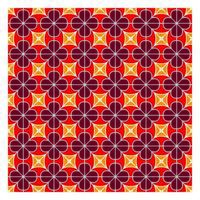 Red Geometric Seamless Pattern